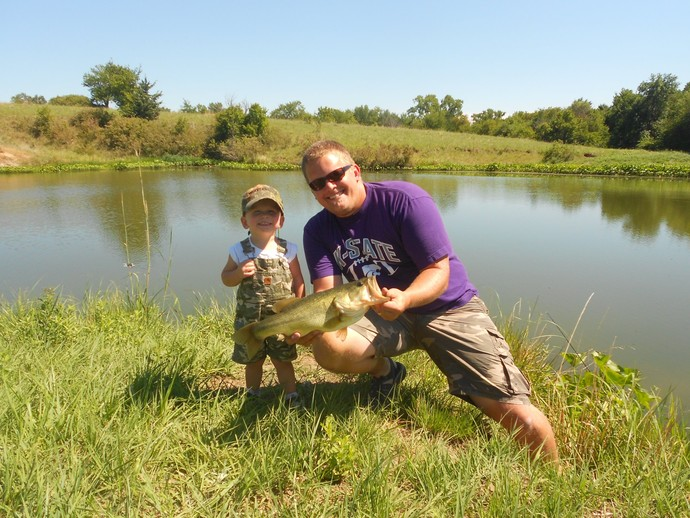 Private pond fishing at scattered acres outfitting for Bass fishing ponds